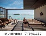 water villa on the maldives | Shutterstock . vector #748961182