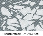 broken ice surface. isolated... | Shutterstock .eps vector #748961725