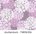 Seamless Abstract Grey Floral...
