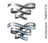 film strip isolated on white... | Shutterstock .eps vector #748967176