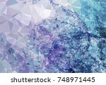 abstract multicolor mosaic... | Shutterstock .eps vector #748971445