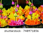 Colorful Krathong Made From Ic...