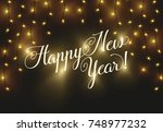 happy new year 2018. christmas... | Shutterstock .eps vector #748977232