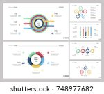 six production slide templates... | Shutterstock .eps vector #748977682