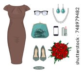 fashion concept. stylish and... | Shutterstock .eps vector #748979482