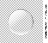 transparent glass sphere with... | Shutterstock .eps vector #748982308