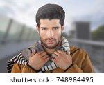 digital composite of man... | Shutterstock . vector #748984495