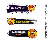 freehand drawn template logo ... | Shutterstock .eps vector #748990756
