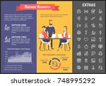 human resource infographic... | Shutterstock .eps vector #748995292