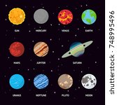 Colorful Planets Of The Solar...