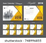 set desk calendar 2018 template ...   Shutterstock .eps vector #748996855