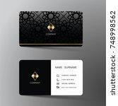 modern business card template...   Shutterstock .eps vector #748998562