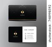 modern business card template... | Shutterstock .eps vector #748998592