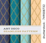 art deco seamless pattern with... | Shutterstock .eps vector #749008732