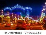 winter in st. petersburg.... | Shutterstock . vector #749011168