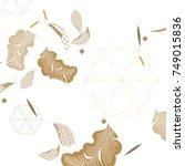 japanese pattern vector. gold... | Shutterstock .eps vector #749015836