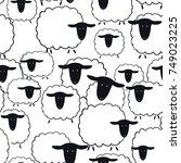sheep seamless pattern.vector... | Shutterstock .eps vector #749023225