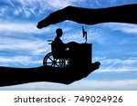 the employee is a disabled... | Shutterstock . vector #749024926