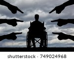 a disabled person in a... | Shutterstock . vector #749024968