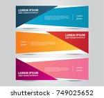 set of modern colorful banner... | Shutterstock .eps vector #749025652