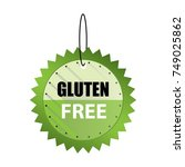 hanging gluten free tags vector | Shutterstock .eps vector #749025862