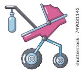 baby carriage classy icon.... | Shutterstock .eps vector #749031142