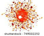 abstract splatter  color design ... | Shutterstock .eps vector #749032252