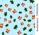 christmas seamless pattern with ... | Shutterstock .eps vector #749033356