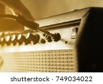 Guitar Amplifier With Hand On...