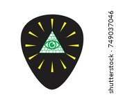 guitar pick and illuminate  ... | Shutterstock .eps vector #749037046