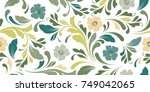 soft flowery pattern. floral... | Shutterstock .eps vector #749042065