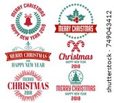 christmas background vector... | Shutterstock .eps vector #749043412