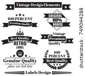 vintage retro vector logo for... | Shutterstock .eps vector #749044288