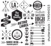vintage retro vector logo for...   Shutterstock .eps vector #749044315