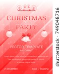 christmas party poster banner.... | Shutterstock .eps vector #749048716