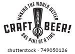 craft beer vector design craft... | Shutterstock .eps vector #749050126
