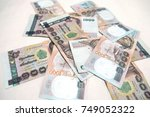 background with money thai... | Shutterstock . vector #749052322