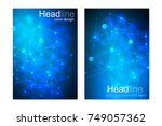 scientific brochure design...   Shutterstock .eps vector #749057362