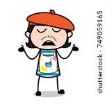 careless unaware face...   Shutterstock .eps vector #749059165