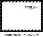 grunge frame. vector... | Shutterstock .eps vector #749060875