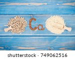 ingredients containing calcium... | Shutterstock . vector #749062516