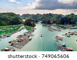 floating fishing village and... | Shutterstock . vector #749065606