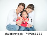 happy family mother  father ... | Shutterstock . vector #749068186