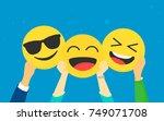 emoji concept vector...   Shutterstock .eps vector #749071708