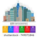 city infographic. design... | Shutterstock .eps vector #749071846