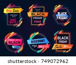 big sale black friday  new... | Shutterstock .eps vector #749072962