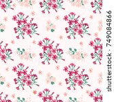 simple cute pattern in small... | Shutterstock . vector #749084866