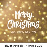 merry christmas and happy new... | Shutterstock .eps vector #749086228