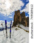 mountaineer backcountry ski...   Shutterstock . vector #749089612