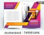 front and back cover of a... | Shutterstock .eps vector #749091496